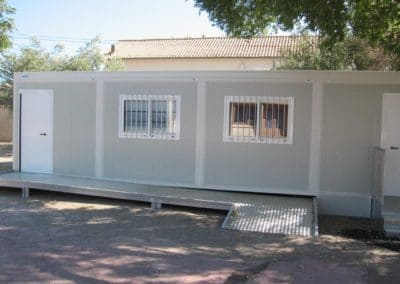 Bâtiment provisoir à usage de salle de classe