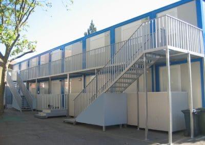 Salles de classes provisoires pendant travaux